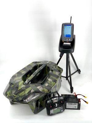 Toslon XBoat 3D Green Camo Ltd Edition With TF740 GPS Autopilot Fishfinder Mapping