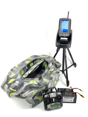 Toslon XBoat 3D Space Camo with TF740 Fishfinder GPS Autopilot