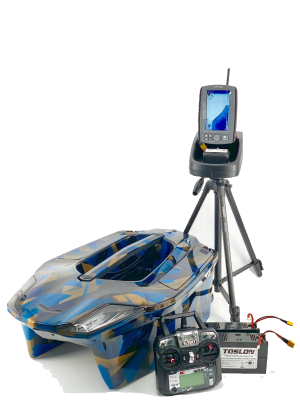 Toslon XBoat 3D Blue Space Camo With TF740 Fishfinder Autopilot GPS