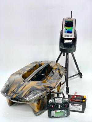 Toslon XBoat Gold Camo with TF740 Fishfinder, GPS, Autopilot